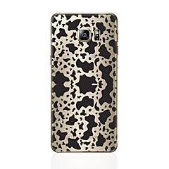 olcso Galaxy S6 Edge tokok-Case Kompatibilitás Samsung Galaxy S8 Plus S8 Minta Fekete tok Leopárd minta Puha TPU mert S8 Plus S8 S7 edge S7 S6 edge plus S6 edge S6