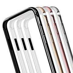 Недорогие Кейсы для iPhone 7-Кейс для Назначение Apple Кейс для iPhone 5 iPhone 6 iPhone 6 Plus iPhone 7 Plus iPhone 7 Покрытие Бампер Сплошной цвет Твердый Металл для
