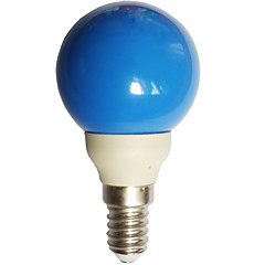 0.5W E14 LED Globe Bulbs G45 7 leds Dip LED Blue 15-25lm 300000K AC100-240V