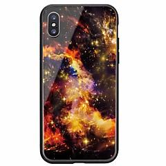 Недорогие Кейсы для iPhone-Кейс для Назначение Apple iPhone X / iPhone 8 С узором Кейс на заднюю панель Цвет неба Твердый Закаленное стекло для iPhone X / iPhone 8 Pluss / iPhone 8