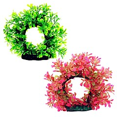 お買い得  アクアリウムデコレーション-アクアリウムの装飾 水草 植物 飾り ミニ プラスチック