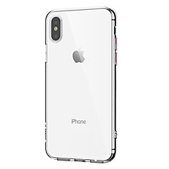 من أجل iPhone X إفون 8 iPhone 7 iPhone 7 Plus iPhone 6 iPhone 6 Plus قضية فون 5 أغط / كفرات نحيف جداً شفاف غطاء خلفي غطاء لون الصلبة ناعم