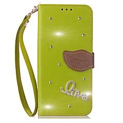 abordables Galaxy Note Edge Carcasas / Fundas-Funda Para Samsung Galaxy Nota 8 Soporte de Coche Cartera Diamantes Sintéticos con Soporte Flip Funda de Cuerpo Entero Color sólido Dura