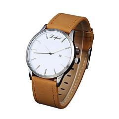 Herrn Armbanduhren für den Alltag Armbanduhr Chinesisch Quartz Armbanduhren für den Alltag PU Band Cool Minimalistisch Schwarz Braun