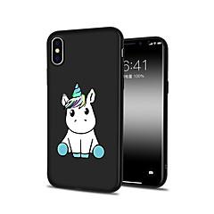 Недорогие Кейсы для iPhone-Кейс для Назначение Apple iPhone X iPhone 8 Plus С узором Кейс на заднюю панель единорогом Мультипликация Животное Мягкий ТПУ для iPhone