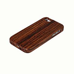Недорогие Кейсы для iPhone 5-Кейс для Назначение iPhone 5 Apple Кейс для iPhone 5 Защита от удара Кейс на заднюю панель Имитация дерева Твердый Бамбук для iPhone