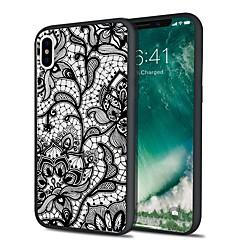 Недорогие Кейсы для iPhone 7 Plus-Кейс для Назначение Apple iPhone X iPhone 8 Plus С узором Кейс на заднюю панель Кружева Печать Мягкий ТПУ для iPhone X iPhone 8 Pluss
