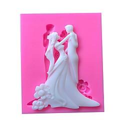 voordelige -Sugarcraft bruiloft siliconen mal cake decorating gereedschap chocolade fondant gumpaste schimmel