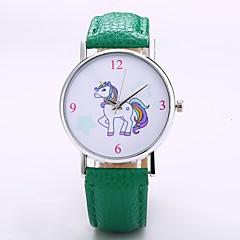 preiswerte Herrenuhren-Herrn / Damen Armbanduhr Chinesisch N / A PU Band Freizeit / Modisch / Elegant Schwarz / Orange / Grün / Jinli 377