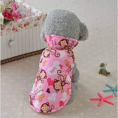 Cat Dog Coat Vest Dog Clothes Stylish Casual/Daily Keep Warm Animal Pink Blue Yellow Costume For Pets