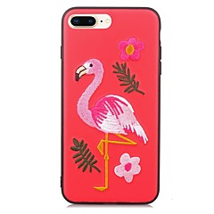 Недорогие Кейсы для iPhone-Кейс для Назначение Apple iPhone X iPhone 8 С узором Кейс на заднюю панель Фламинго Животное Мягкий ТПУ для iPhone X iPhone 8 Pluss