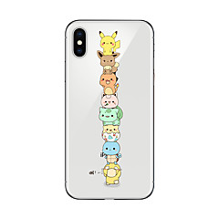 billige iPhone 5c-etuier-Etui Til Apple iPhone X iPhone 8 Transparent Mønster Bagcover Tegneserie Blødt TPU for iPhone X iPhone 8 Plus iPhone 8 iPhone 7 Plus