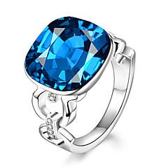 Χαμηλού Κόστους Δαχτυλίδια-Γυναικεία Εντυπωσιακά Δαχτυλίδια Συνθετικό ζαφείρι Επίσημο Ευρωπαϊκό Μοντέρνα Γυαλί Κράμα Geometric Shape Κοσμήματα Πάρτι