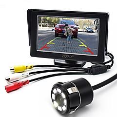 voordelige Auto-achteruitkijkcamera-ziqiao 4.3 inch monitor en 8led ccd hd auto achteruitrijcamera