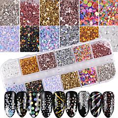 1set Luxuriös Bling Bling Nagel Glitter Pailletten Glitzerpulver Nagel Glitter Wie Bild Nagel-Kunst-Design Nagel-Kunst-Tipps