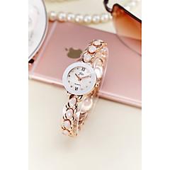 preiswerte Damenuhren-Damen Armband-Uhr Simulierter Diamant Uhr Quartz 30 m Wasserdicht Imitation Diamant Legierung Band Analog Glanz Armreif Modisch Silber / Gold - Gold Silber