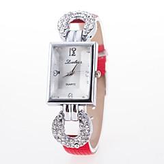 preiswerte Armbanduhren für Paare-Damen Paar Armbanduhr Quartz Armbanduhren für den Alltag Legierung Band Analog-Digital Blume Glanz Modisch Schwarz / Weiß / Blau - Kaffee Rot Rosa