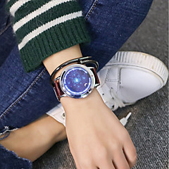 preiswerte Herrenuhren-Herrn / Damen Armbanduhr Chinesisch Armbanduhren für den Alltag / Cool PU Band Luxus / Freizeit / Einzigartige kreative Uhr Schwarz / Braun / Jinli 377