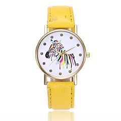 preiswerte Tolle Angebote auf Uhren-Damen Armbanduhr Chinesisch Armbanduhren für den Alltag PU Band Freizeit / Mehrfarbig / Minimalistisch Schwarz / Weiß / Blau / Ein Jahr / Jinli 377