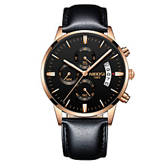 preiswerte Digitaluhren-Herrn Quartz Armbanduhr Chinesisch Kalender / Chronograph / Wasserdicht / Armbanduhren für den Alltag / Nachts leuchtend / leuchtend