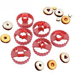 voordelige Bakgerei & Gadgets-multifunctionele cookie cutter taart decoreren fondant snoep schimmel linzer cookie mal set van 6