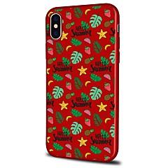 Недорогие Кейсы для iPhone 5-Кейс для Назначение Apple iPhone X iPhone 8 Plus С узором Задняя крышка Пейзаж Фрукты Цветы Мягкий TPU для iPhone X iPhone 8 Pluss iPhone