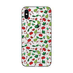 hoesje Voor Apple iPhone X iPhone 8 Plus iPhone 7 iPhone 7 Plus iPhone 6 Doorzichtig Patroon Achterkantje Kerstmis Zacht TPU voor iPhone