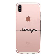 Недорогие Кейсы для iPhone 7-Кейс для Назначение Apple iPhone X iPhone 8 Прозрачный С узором Задняя крышка Слова / выражения Мягкий TPU для iPhone X iPhone 8 Pluss