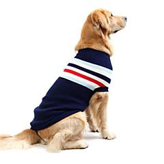 お買い得  犬用ウェア&アクセサリー-犬 セーター 犬用ウェア ストライプ ダークブルー レッド コットン コスチューム ペット用 男性用 女性用 カジュアル/普段着