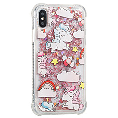 abordables Fundas para iPhone 5c-Funda Para Apple iPhone X iPhone 8 Antigolpes Líquido Diseños Funda Trasera Unicornio Suave TPU para iPhone X iPhone 8 Plus iPhone 8