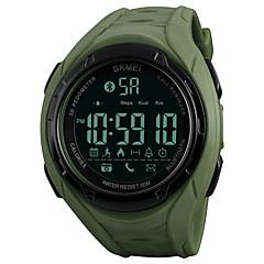お買い得  メンズ腕時計-SKMEI 男性用 スポーツウォッチ / リストウォッチ / デジタルウォッチ 日本産 Bluetooth / クロノグラフ付き / 耐水 PU バンド カジュアル ブラック / グリーン / リモートコントロール