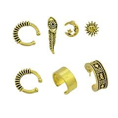 preiswerte Ohrringe-Damen Ohrstecker / Klips / Ohr-Stulpen - Blattform Grundlegend, Rockig Gold / Silber Für Alltag / Verabredung