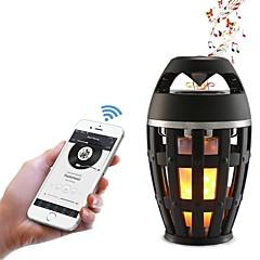 お買い得  LED アイデアライト-1pc led夜間ライトusbブルートゥース充電式ちらつきエミュレーション火災スピーカーusbポートワイヤレス