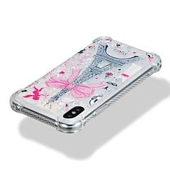 お買い得  iPhone 5S/SE ケース-ケース 用途 Apple iPhone X iPhone 8 耐衝撃 リキッド パターン バックカバー キラキラ仕上げ エッフェル塔 ソフト TPU のために iPhone X iPhone 8 Plus iPhone 8 iPhone 7 Plus iPhone 7