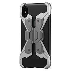 olcso iPhone 6s tokok-Case Kompatibilitás Apple iPhone X iPhone 8 Ütésálló Fekete tok Punk Kemény Fém mert iPhone X iPhone 8 Plus iPhone 8 iPhone 7 Plus iPhone