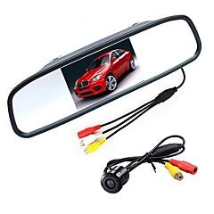 voordelige Auto-achteruitkijkcamera-ziqiao 4.3 inch digitale tft lcd-spiegelmonitor en ccd hd auto achteruitrijcamera