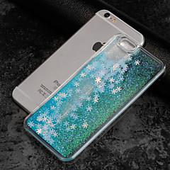 Недорогие Кейсы для iPhone 5-Кейс для Назначение Apple iPhone 7 Plus iPhone 7 Движущаяся жидкость Прозрачный С узором Кейс на заднюю панель Геометрический рисунок