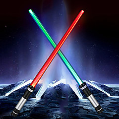 cheap LED & Lighting-2Pcs YWXLight® RGB Wars Lightsaber Cosplay Props Double Sided LED Light Up Light Lightsaber (Without Batteries)
