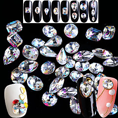 お買い得  カラーアート・ラインストーン-#tools&accessories rhinestonesネイルジュエリーネイルグレータークリスタルファッショナブルジュエリーラインストーンスパークル&輝き輝き&輝き