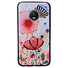 Недорогие Чехлы и кейсы для Motorola-Кейс для Назначение Motorola G5 Plus G5 С узором Кейс на заднюю панель Бабочка Цветы Мягкий ТПУ для Мото G5 Plus Moto G5 Мото G4 Plus