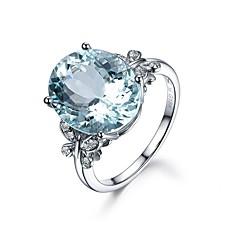 billige Ringe-Dame Båndringe Kvadratisk Zirconium 1pc Vintage Basale Mode Zirkonium Sølv Cirkelformet Geometrisk form Smykker Bryllup Forlovelse