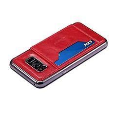 Недорогие Чехлы и кейсы для Xiaomi-Кейс для Назначение SSamsung Galaxy / Xiaomi S8 Plus / S8 Бумажник для карт / со стендом Кейс на заднюю панель Однотонный Твердый Кожа PU для S8 Plus / S8