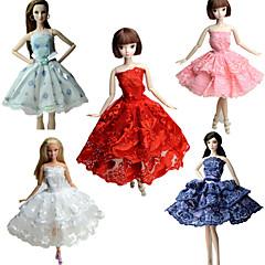 abordables Ropa para Barbies-Fiesta/Noche Vestidos por Muñeca Barbie  Tela de Encaje Satín Vestido por Chica de muñeca de juguete