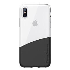 Недорогие Кейсы для iPhone X-Кейс для Назначение Apple iPhone X iPhone X Полупрозрачный Кейс на заднюю панель Прозрачный Твердый ТПУ для iPhone X