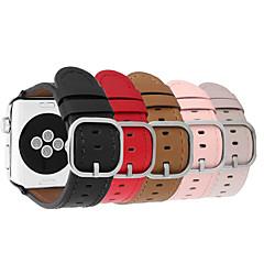 abordables Correas para Apple Watch-Ver Banda para Apple Watch Series 3 / 2 / 1 Apple Correa de Muñeca Hebilla Clásica Acero Inoxidable Cuero Auténtico
