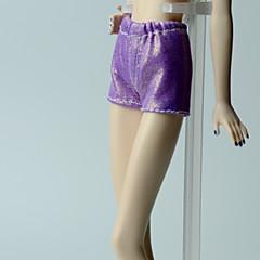 abordables Ropa para Barbies-Pantalones Pantalones, Pantalonetas y Licras por Muñeca Barbie  Morado Satén Elástico Pantalones por Chica de muñeca de juguete