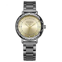 preiswerte Damenuhren-Damen Armbanduhr Japanisch Quartz 30 m Armbanduhren für den Alltag Edelstahl Band Analog Freizeit Modisch Schwarz / Silber / Grau - Silber Iron Grey Rotgold