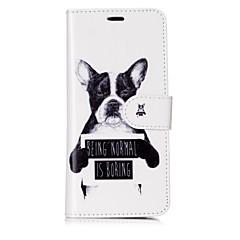 Χαμηλού Κόστους Galaxy S6 Θήκες / Καλύμματα-tok Για Samsung Galaxy S8 Plus S8 Θήκη καρτών Πορτοφόλι Ανοιγόμενη Μαγνητική Με σχέδια Πλήρης Θήκη Σκύλος Λέξη / Φράση Σκληρή PU δέρμα για