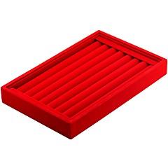 お買い得  ジュエリー用パッケージ&ディスプレイ-ジュエリーボックス カフスボタンボックス ハードレザー 方形 リネン ブラック ホワイト レッド キャンディピンク ダークグレー