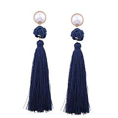 preiswerte Ohrringe-Damen Quaste / Geometrisch Tropfen-Ohrringe - Perle Quaste Grün / Rosa / Dunkelrot Für Geschenk / Alltag
